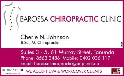 banner image for Barossa Chiropractic Clinic